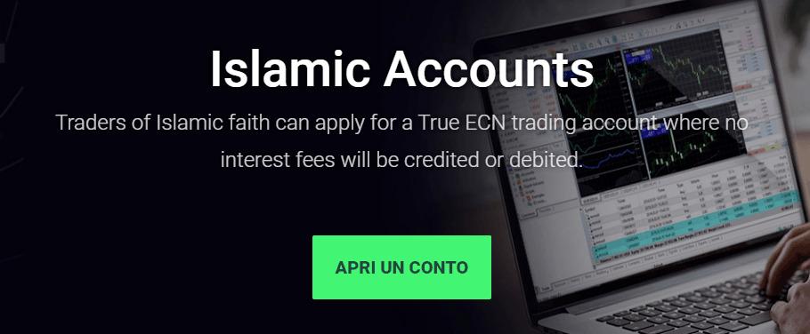 Conto forex islamico IC Markets