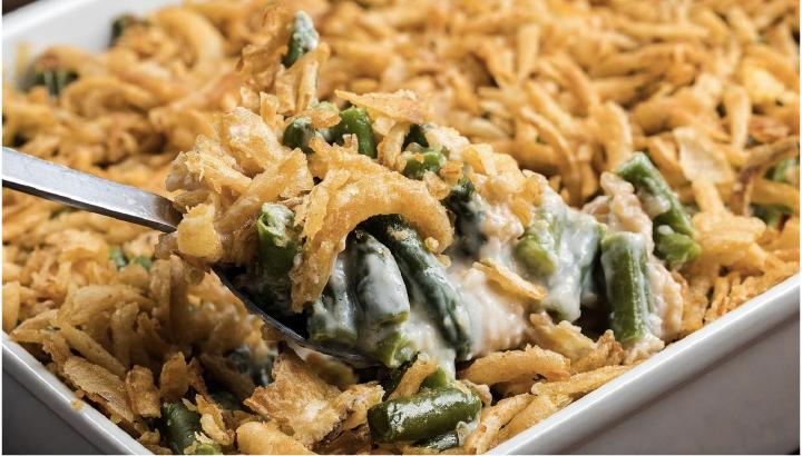 thanksgiving potluck recipe - green bean casserole
