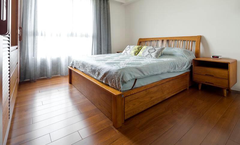 無論是綠植栽或是地毯或是使用小物件都可讓房間呈現北歐溫暖的風格