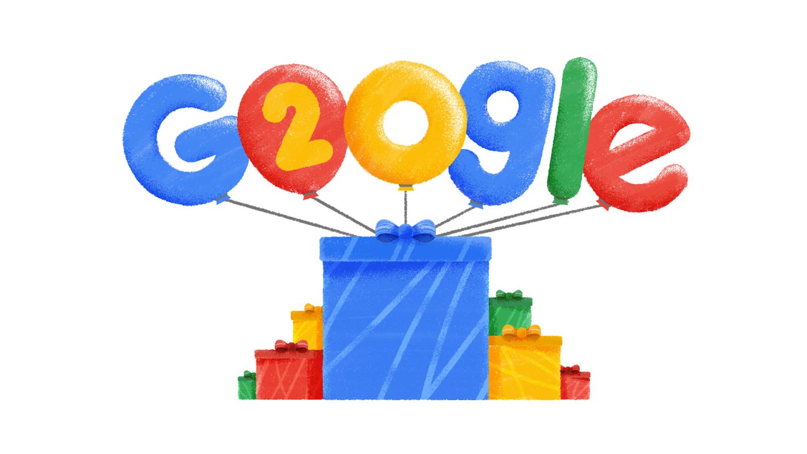 google fyller år Norway Press Blog: Google fyller 20 år google fyller år