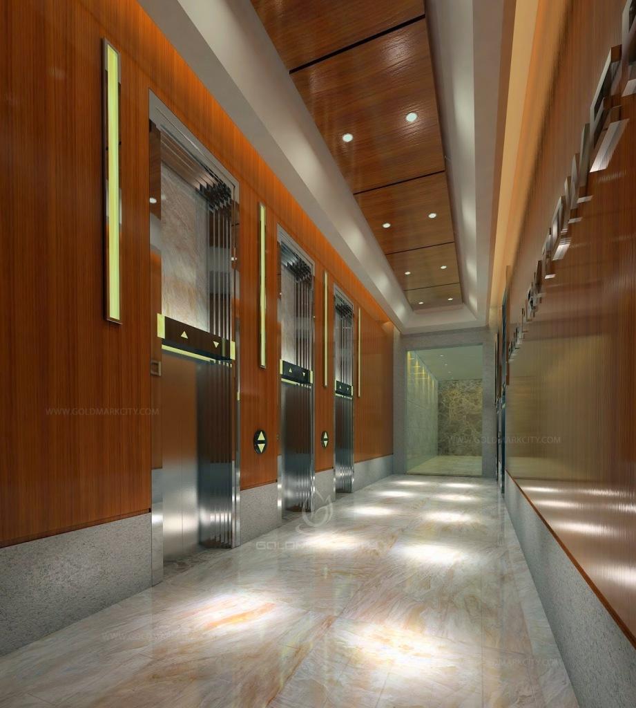Sảnh thang máy tại chung cư Goldmark City