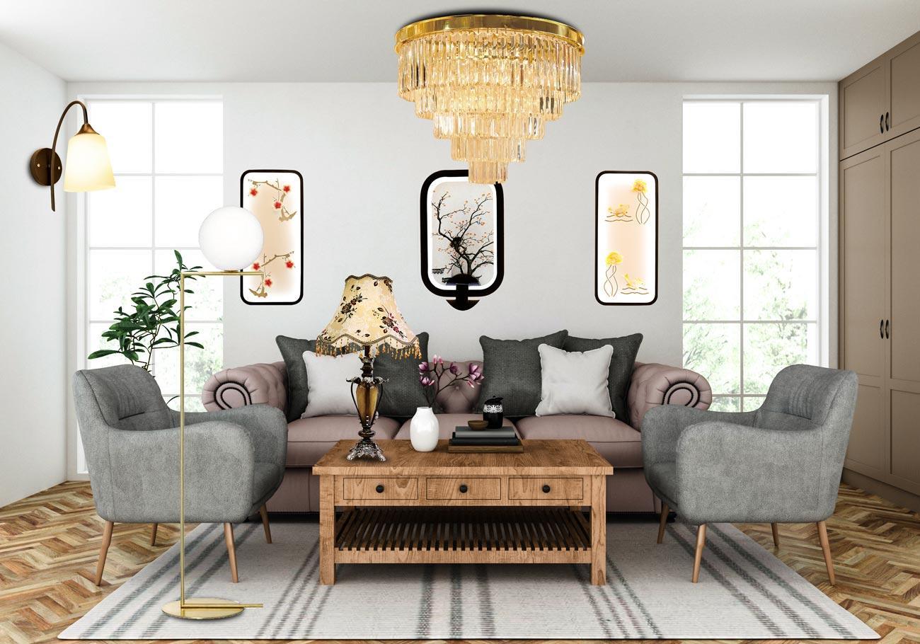Lựa chọn mẫu đèn nội thất phòng khách như thế nào hợp lý nhất?
