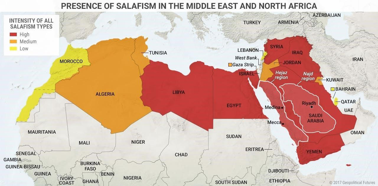 map of salafism