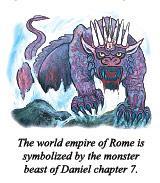 羅馬世界帝國是由丹尼爾第7章的怪獸象徵