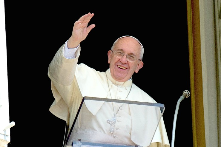 Pope Francis during the Angelus of 23 august 2015