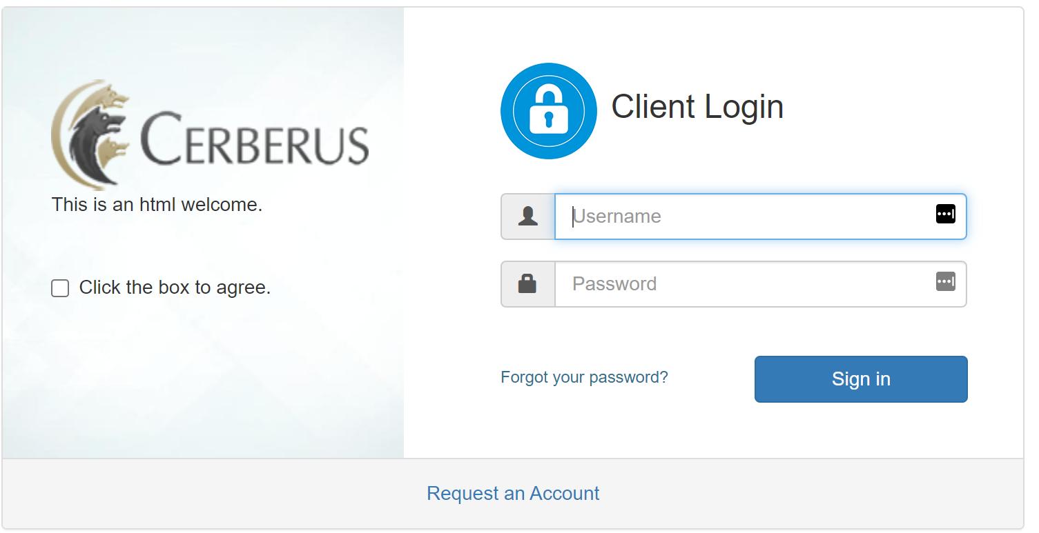 Cerberus FTP Server Web Client Login Page