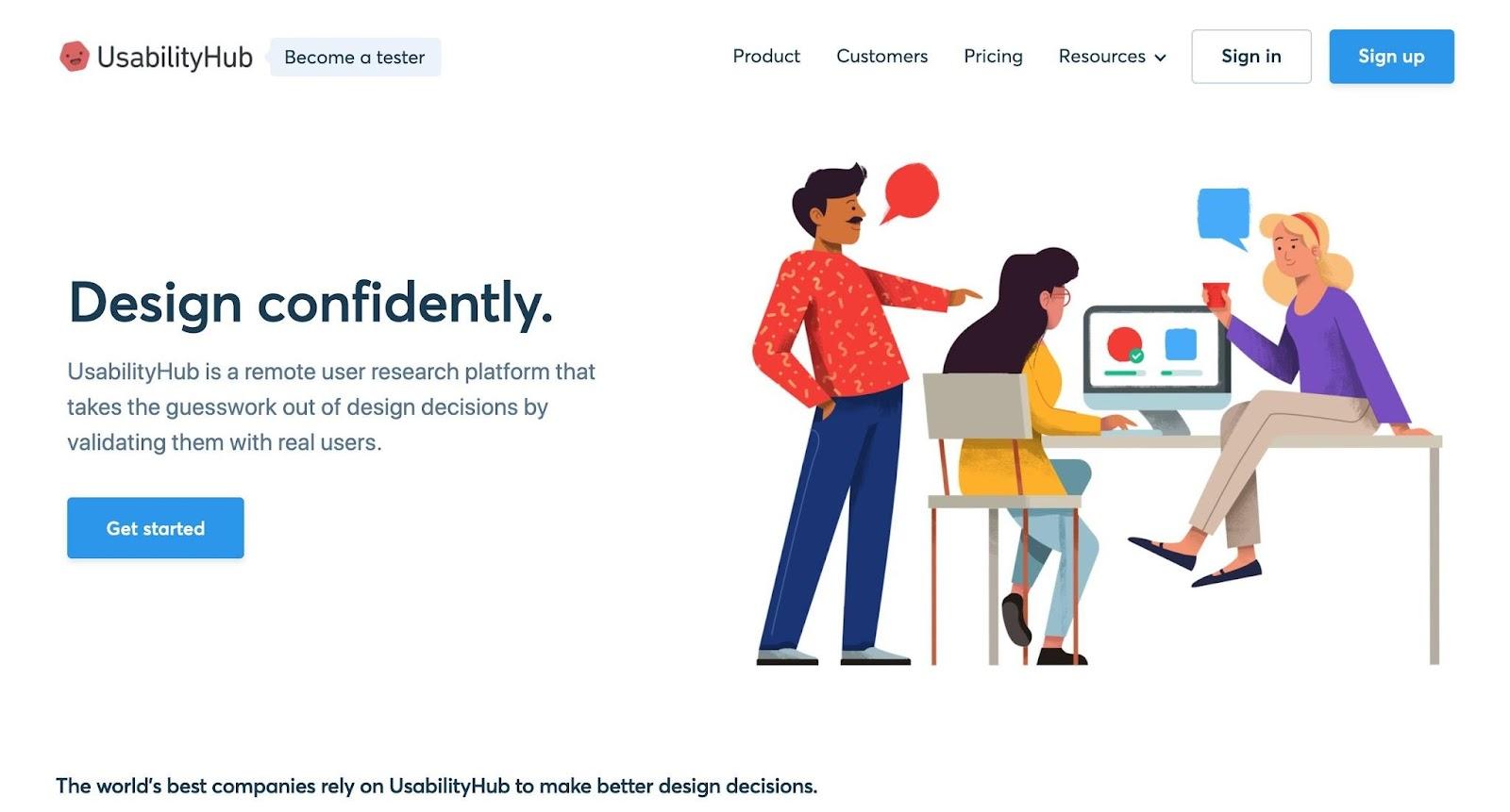 Usability Hub - gratis een 5-sec test starten