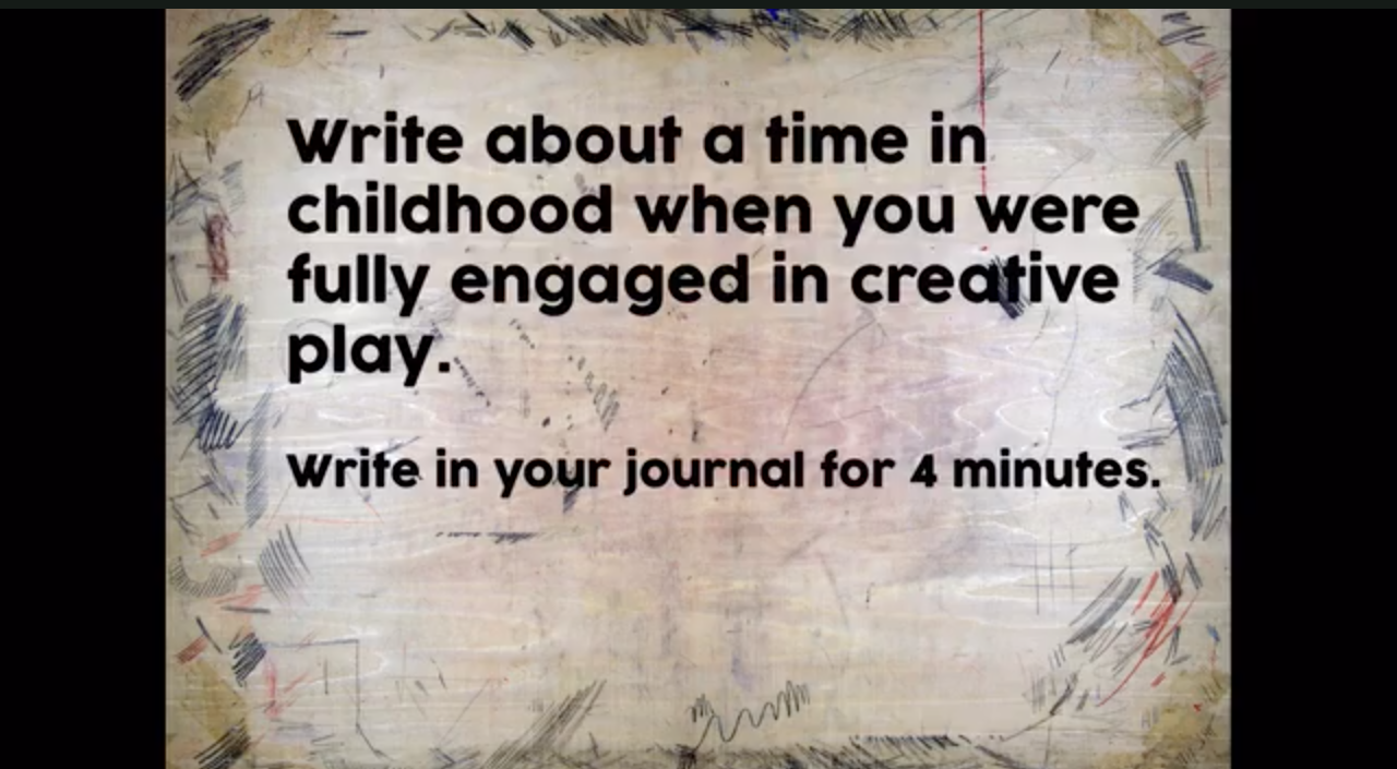 creative journaling suggestion