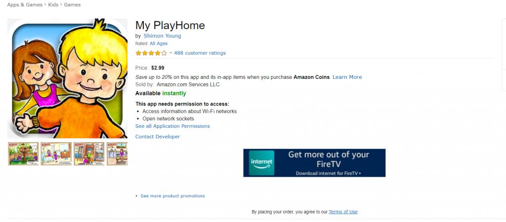 My Play Home لاجهزة Kindle  متوفرة على Amazone App Store