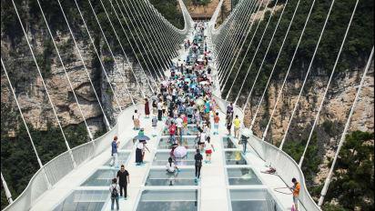 China's record-breaking glass bridge closes | CNN Travel