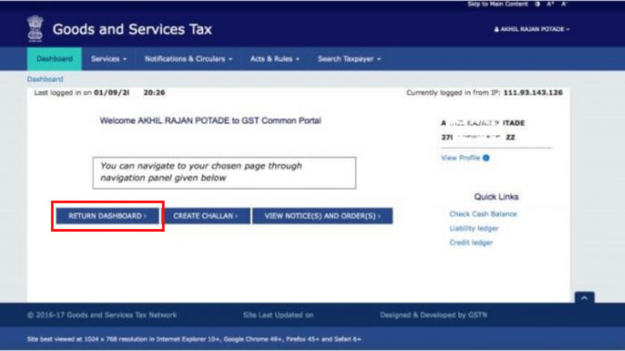 How to file Nil GSTR-1 return