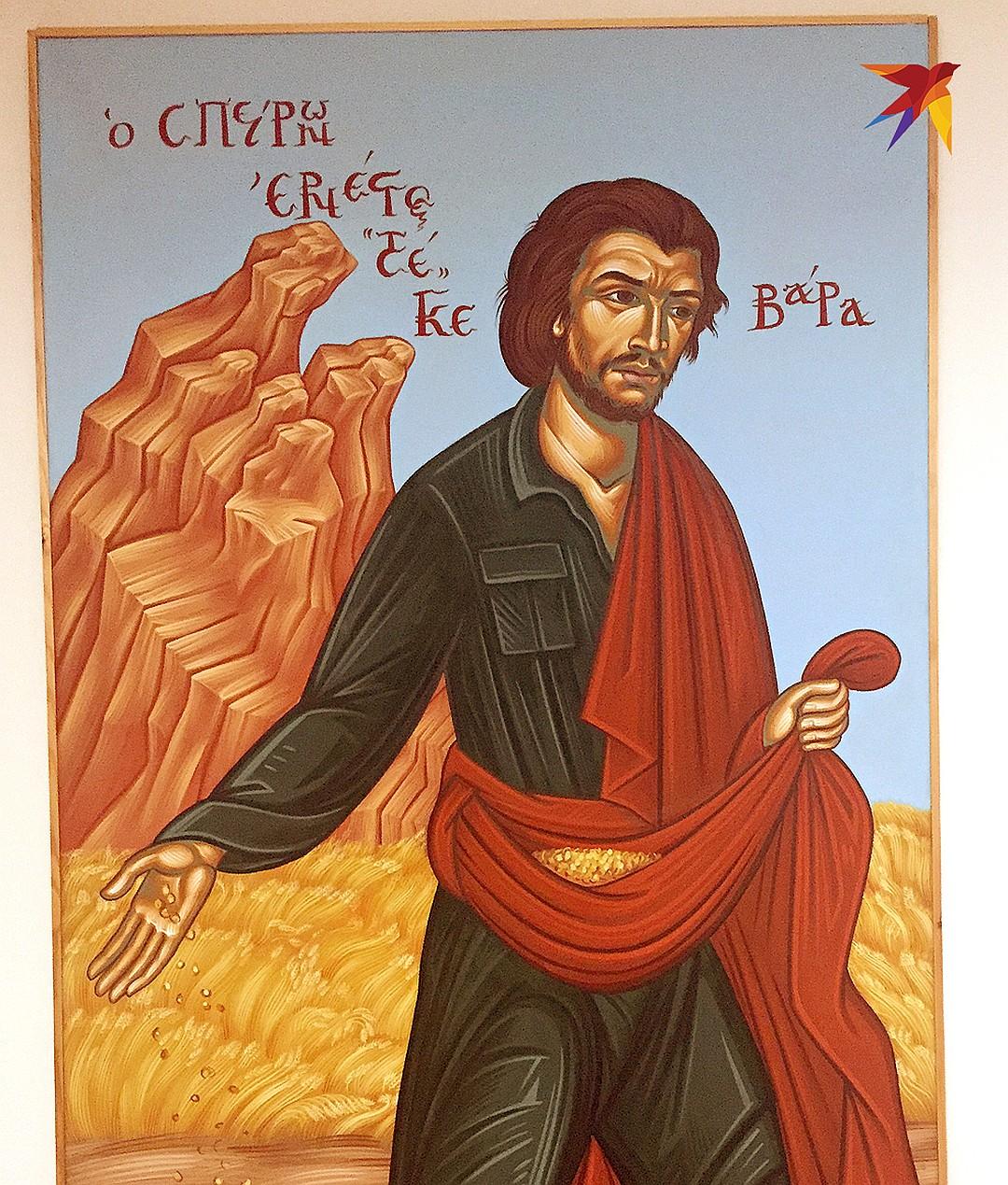 В Греции часто рисуют революционера Че Геваре в виде библейского сеятеля. Фото: Дарья АСЛАМОВА
