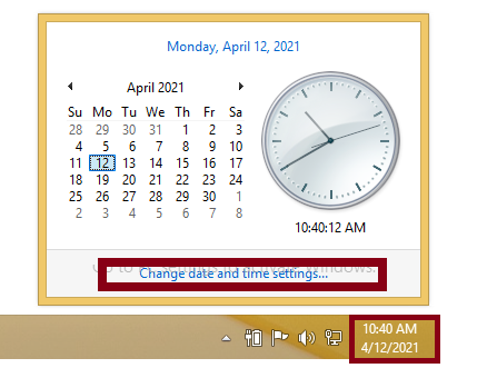 Set your system's time and date properly