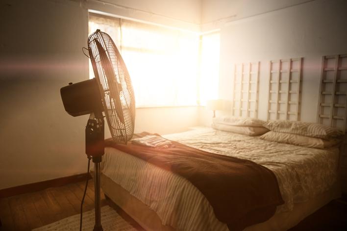agar kamar tidak panas