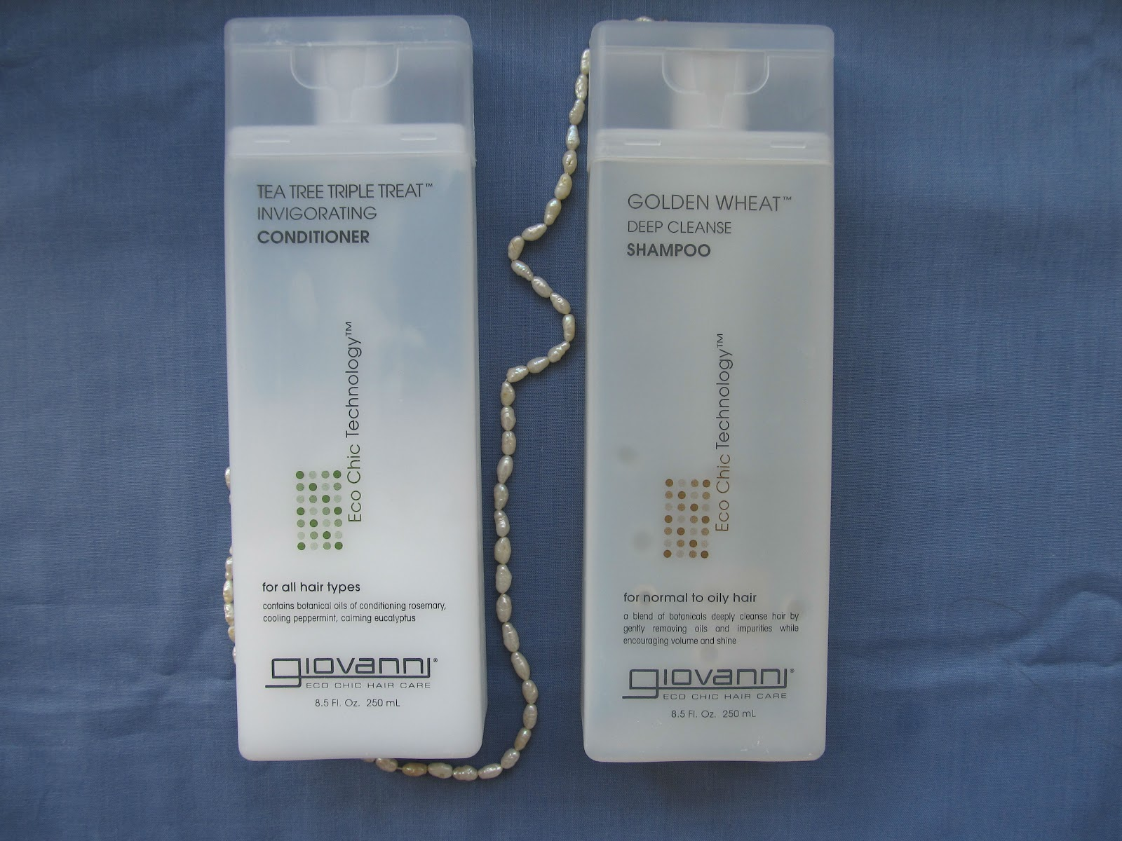 Giovanni Golden Wheat Deep Cleanse Shampoo and Tea Tree Triple Treat Invigorating Conditioner