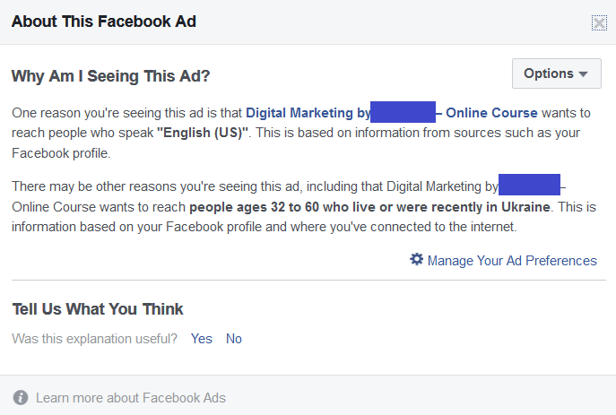 Facebook targeted ads - targeted messages - HelpCrunch blog