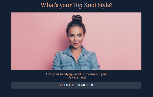 What's your top knot quiz cover