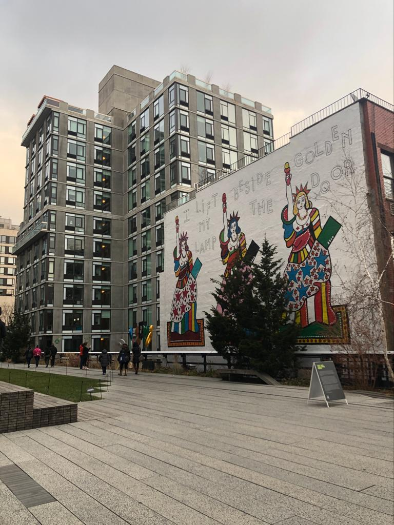 Picture of artwork on display at the High Line.