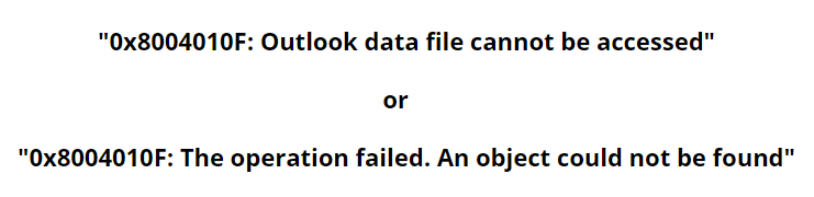 Error 0x8004010f