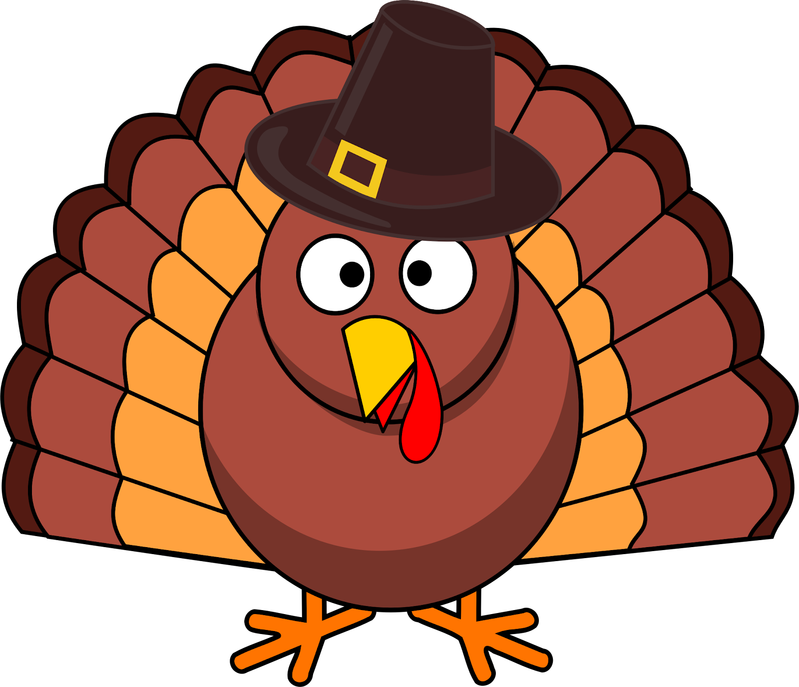 Turkey with Pilgrim hat vector ...