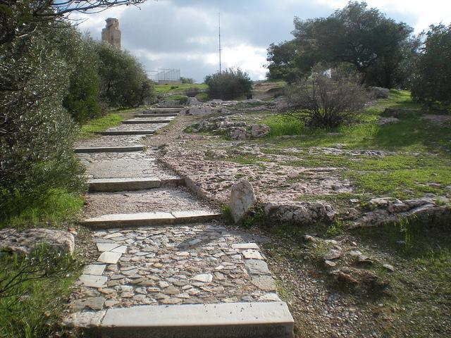 The Area named Filopappou in Athens, Greece