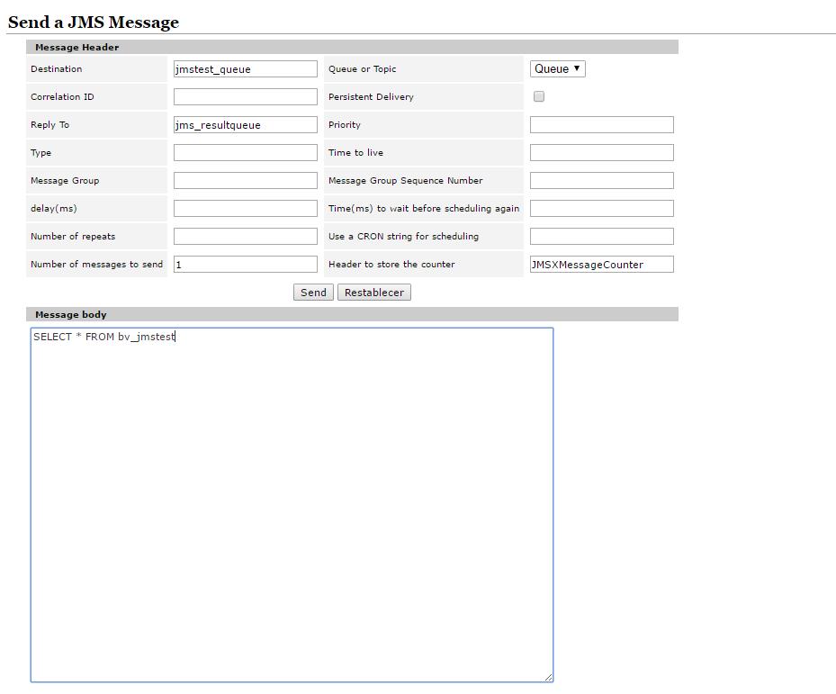 Getting data from Denodo Virtual DataPort through JMS