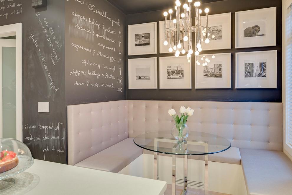 Incorporate Banquette and Artwork