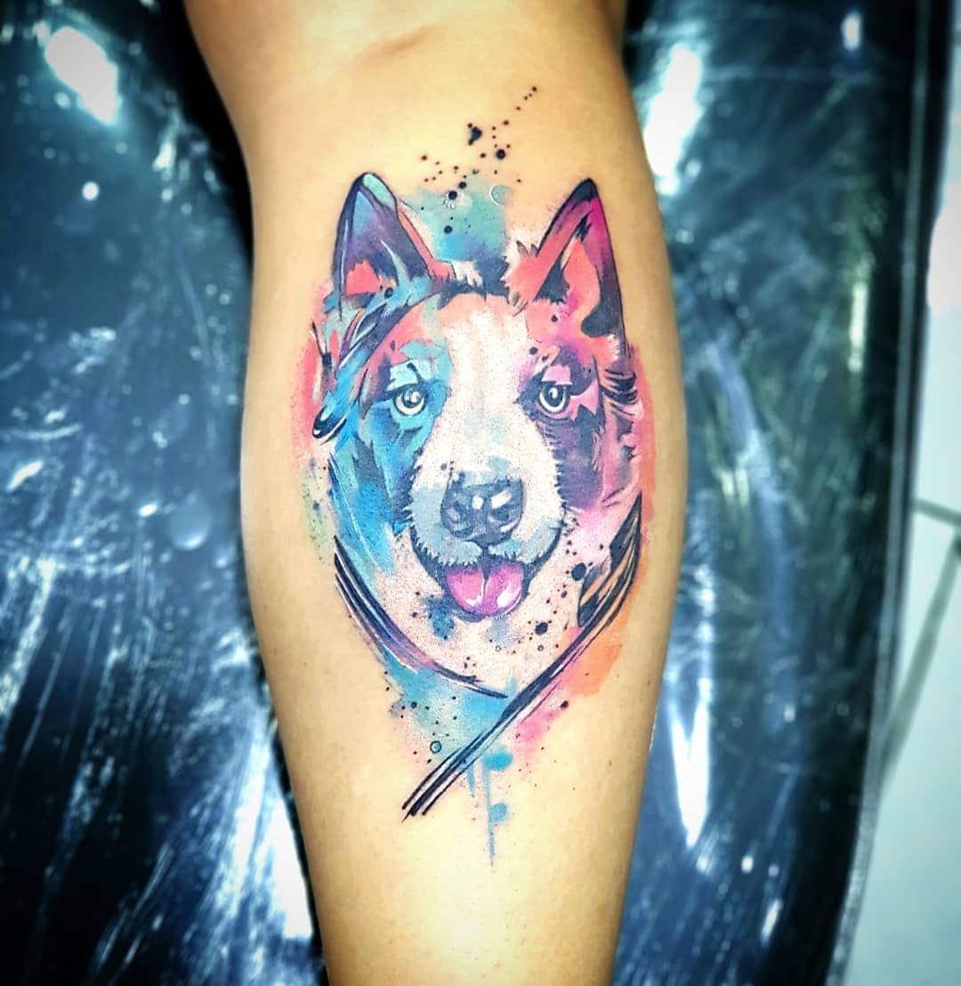 ลายสักหมาสี