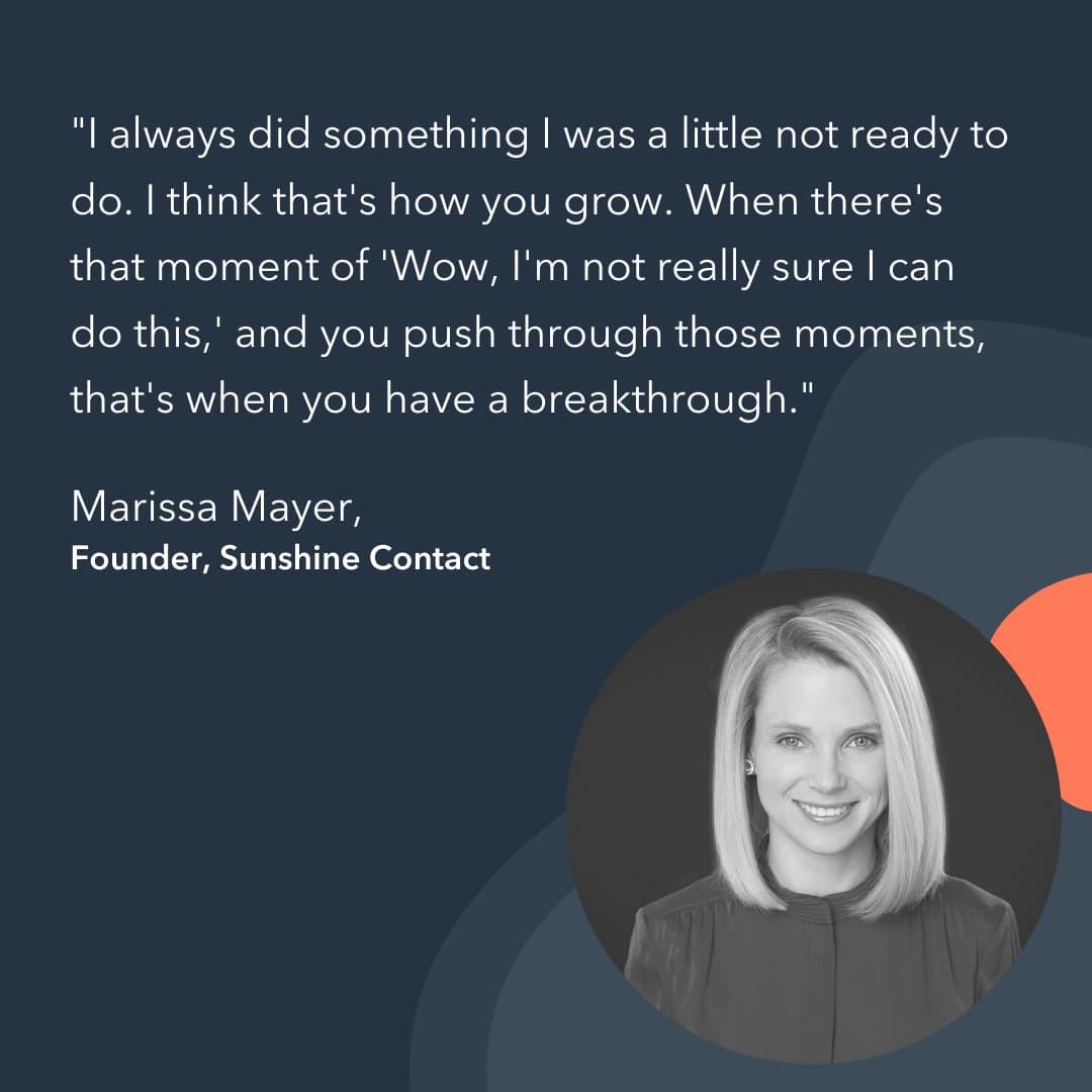 entrepreneur advice Marissa Mayer
