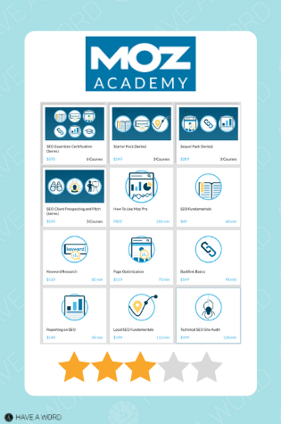 Moz Academy review