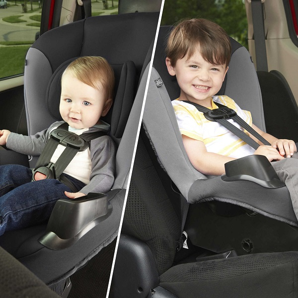 Evenflo Sonus rear-facing vs. forward facing