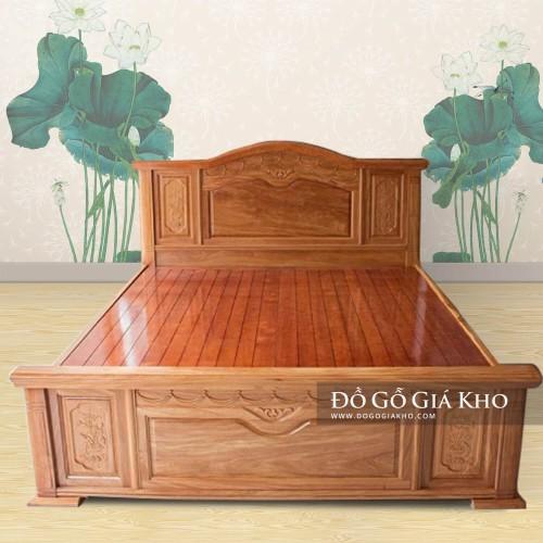 Giường ngủ gỗ Đinh hương cao cấp GN123
