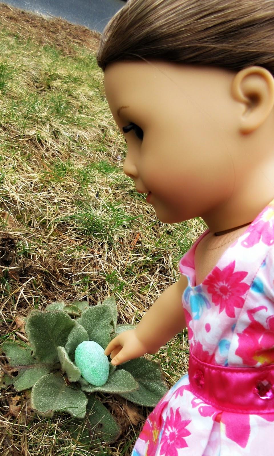 American girl doll Easter egg hunt.jpg