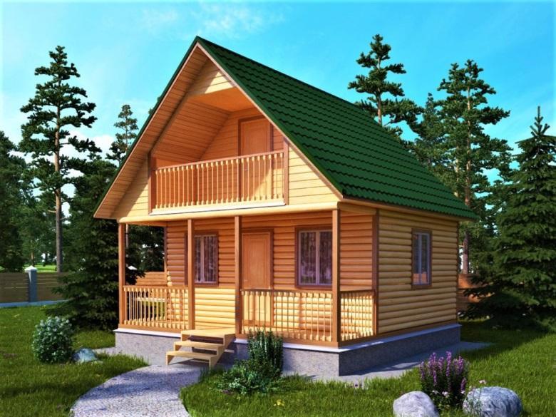 Дом из бруса 6 на 6 (6х6) - проекты домов из бруса 6х6 под ключ, купить в СПб - компания Брусовой