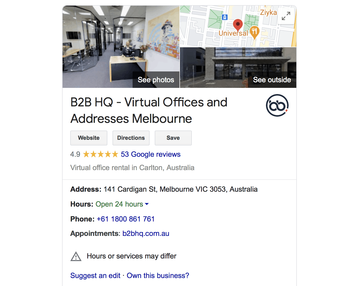 Google My Business For B2B HQ Virtual Offices