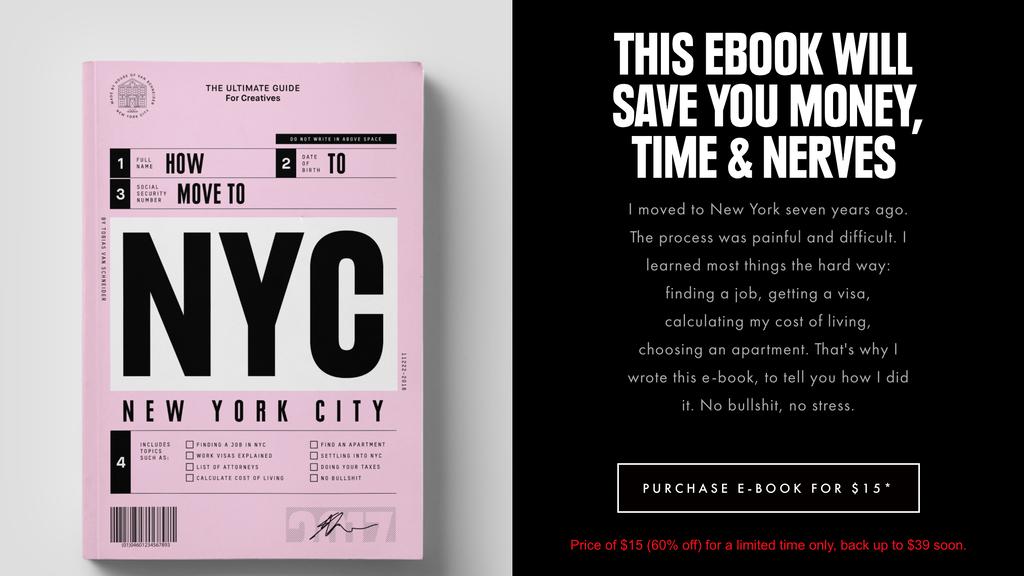 landing page do let's go to nyc, uma das ideias de pequenos negócios