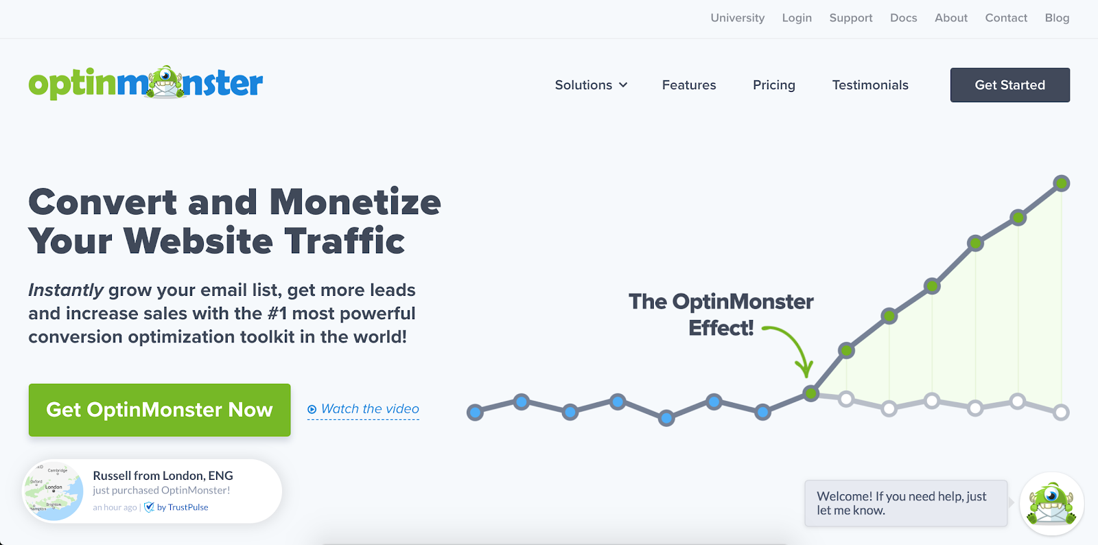 OptinMonster is the fifth Best B2B Lead Generation Tool example | The article is 21 of the Best B2B Lead Generation Tools for 2020