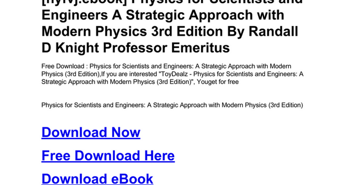 Physics for scientists and engineers a strategic approach with physics for scientists and engineers a strategic approach with modern physics 3rd editionc google drive fandeluxe Gallery