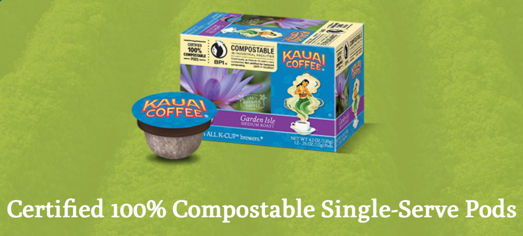 Kauai Coffee compostable pods