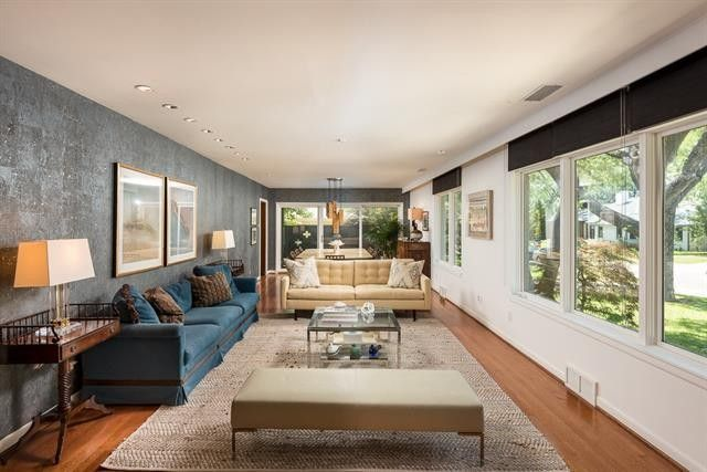 dallas home before renovations property listing real estate market interior 70s home dated dark