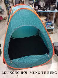 Lều xong hơi màu xanh- mùng tự bung