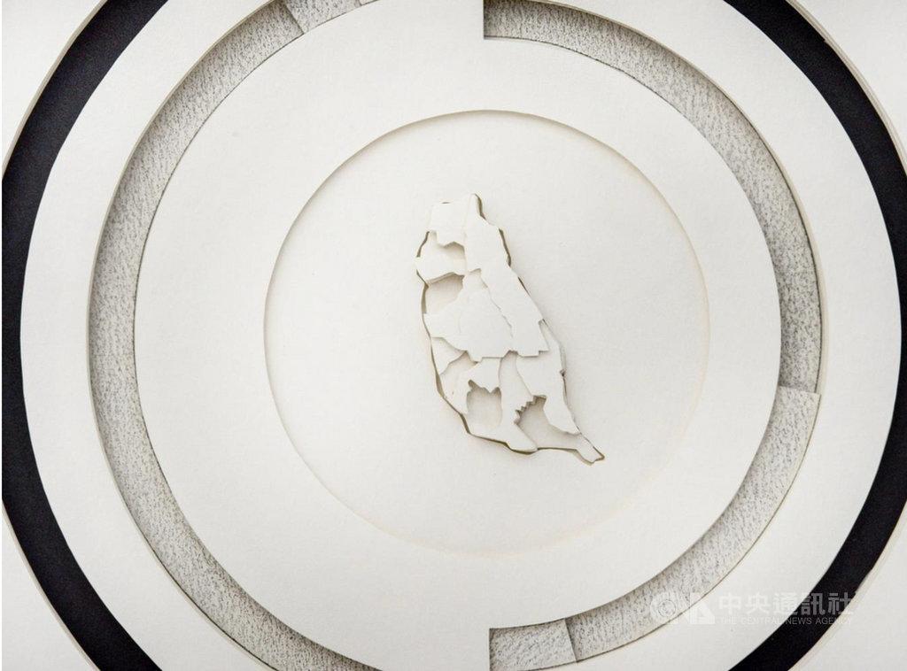 古巴藝術家孔蒂諾、埃爾南德首度來台開展,以台灣社會議題的數據分析作為創作題材。圖為此次展覽作品「台灣貿易關係:2018年台灣進出口貿易比較」。(路由藝術提供)中央社  110年2月5日