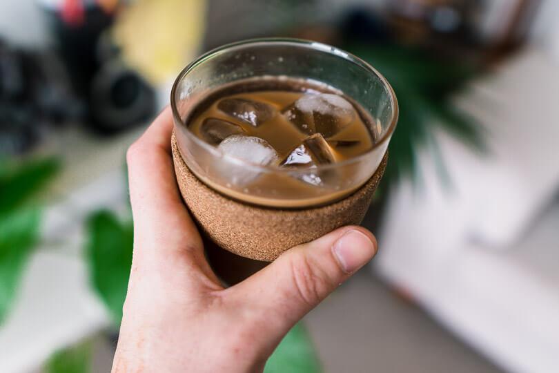 Vietnamese iced coffee.