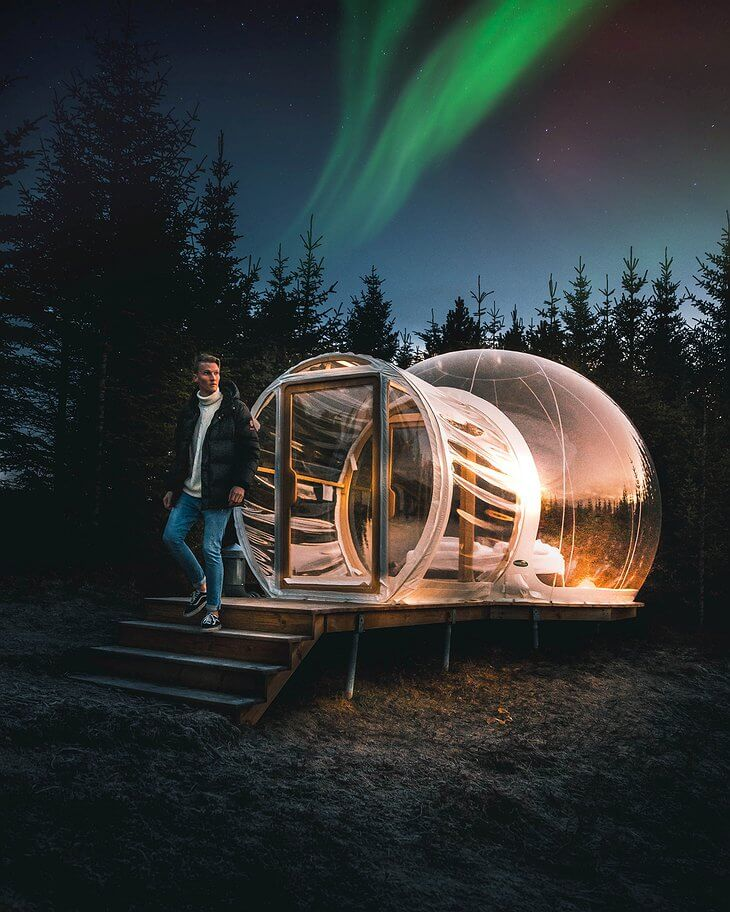 5 million star hotel, bubble hotel, iceland