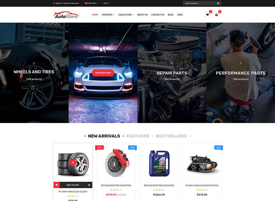 Auto parts shopify theme monota