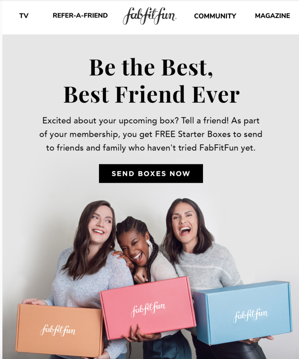 referral program with email marketing.