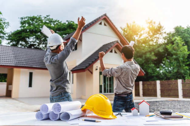 Workers are happy with a new house