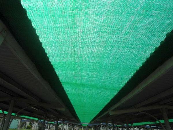 Kết quả hình ảnh cho lưới chống nắng mái tôn