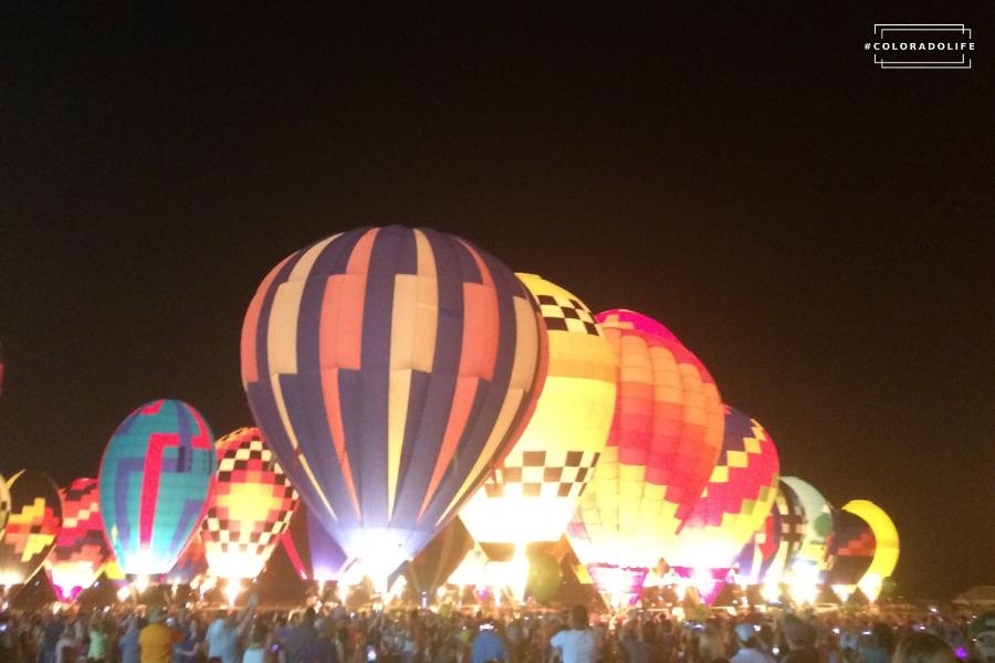 colorado events hot air balloon festivals