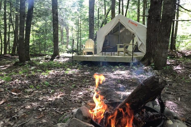 tentrr campsite in nature